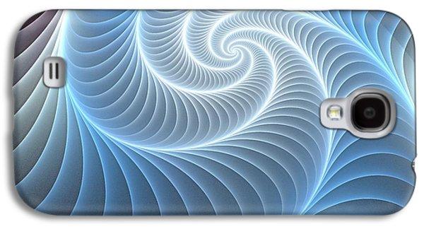 Gift Galaxy S4 Cases - Glowing Spiral Galaxy S4 Case by Anastasiya Malakhova