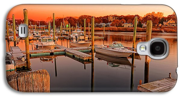 Warwick Galaxy S4 Cases - Glowing Start - Rhode Island Marina Sunset Warwick Marina  Galaxy S4 Case by Lourry Legarde