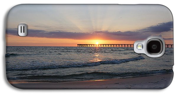 Panama City Beach Galaxy S4 Cases - Glowing Sunset Galaxy S4 Case by Sandy Keeton