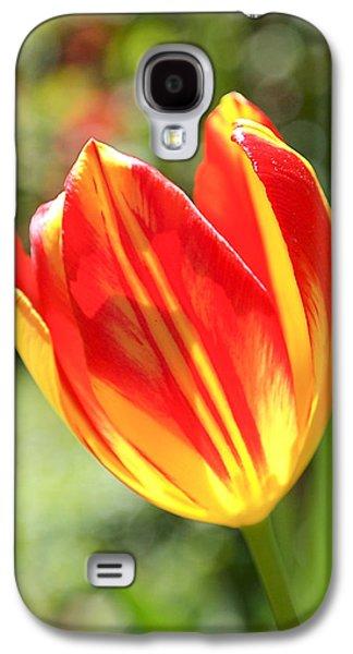 Glowing Tulip Galaxy S4 Case by Rona Black
