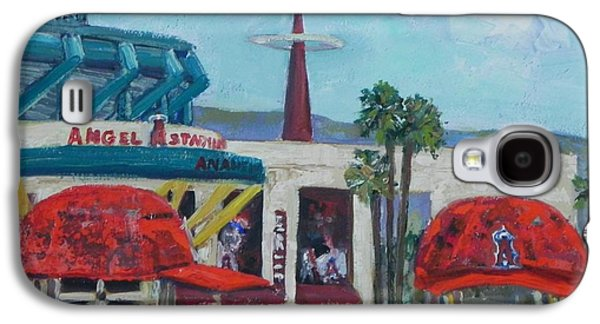 Baseball Stadiums Paintings Galaxy S4 Cases - Go Angels Galaxy S4 Case by Nancy LaMay