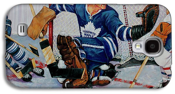Montreal Paintings Galaxy S4 Cases - Goaltender Galaxy S4 Case by Derrick Higgins