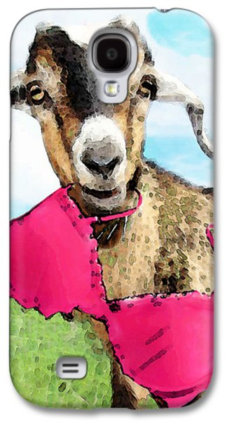 Goat Digital Art Galaxy S4 Cases - Goat Art - Oh Youre Home Galaxy S4 Case by Sharon Cummings