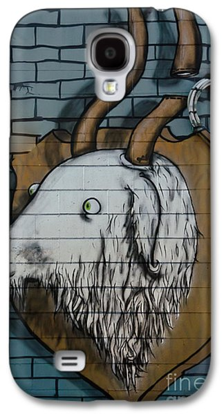 Slam Galaxy S4 Cases - Goat mural graffiti on the textured wall Galaxy S4 Case by Yurix Sardinelly