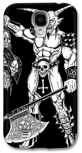 Religious Drawings Galaxy S4 Cases - Goatlord Hero Galaxy S4 Case by Alaric Barca