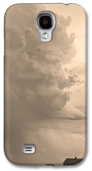 Storm Prints Photographs Galaxy S4 Cases - Gobbled Up By a Storm  Sepia Galaxy S4 Case by James BO  Insogna