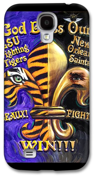 God Bless Our Tigers And Saints Galaxy S4 Case by Mike Roberts
