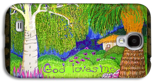 Weeping Drawings Galaxy S4 Cases - God Loves Me Galaxy S4 Case by Art Christian