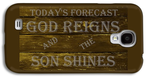 Religious Drawings Galaxy S4 Cases - God Reigns and the Son Shines Galaxy S4 Case by Movie Poster Prints