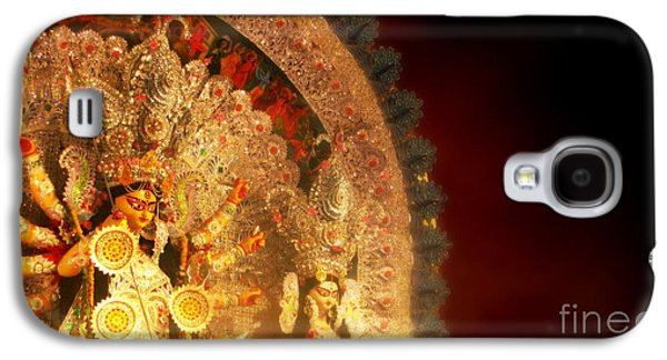 Goddess Durga Galaxy S4 Cases - Goddess Durga Galaxy S4 Case by Prajakta P