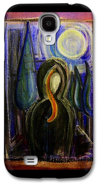 Subconscious Paintings Galaxy S4 Cases - Goddess Under The Cypress Moon Galaxy S4 Case by Mimulux patricia no