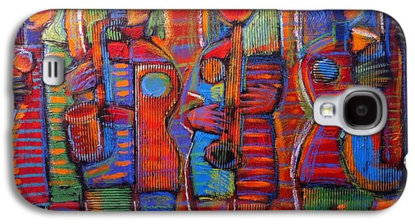 Cardboard Mixed Media Galaxy S4 Cases - Goddesss of Music Bring us Jazz Galaxy S4 Case by Gerry High