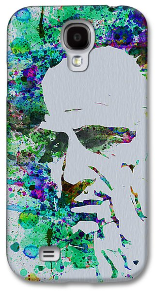 Tv Galaxy S4 Cases - Godfather Watercolor Galaxy S4 Case by Naxart Studio