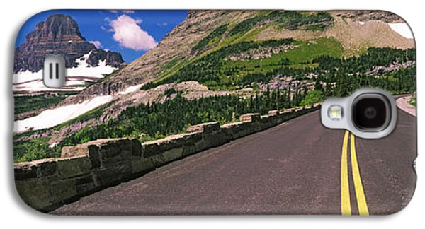 Mountain Road Galaxy S4 Cases - Going-to-the-sun Road At Us Glacier Galaxy S4 Case by Panoramic Images