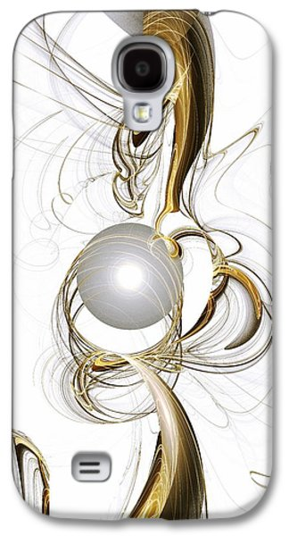 Gold Earrings Galaxy S4 Cases - Gold and Pearl Galaxy S4 Case by Anastasiya Malakhova