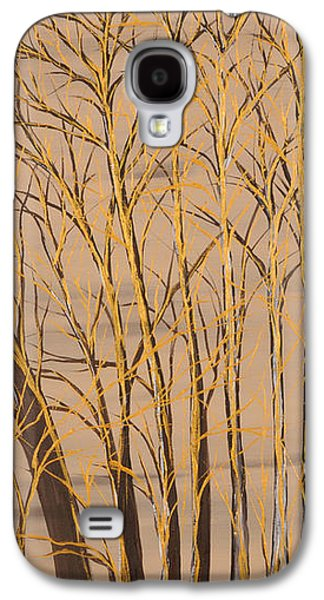 Landscape Acrylic Prints Galaxy S4 Cases - Gold branches Galaxy S4 Case by Roni Ruth Palmer