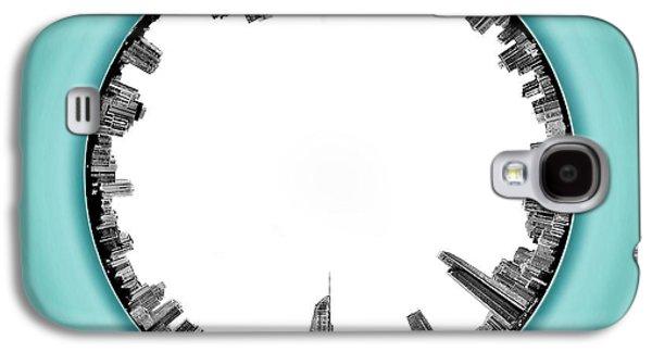 Vivid Colour Galaxy S4 Cases - Gold Coast Skyline 5 Circagraph Galaxy S4 Case by Az Jackson