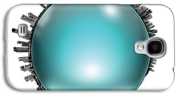 Vivid Colour Galaxy S4 Cases - Gold Coast Skyline Circagraph Galaxy S4 Case by Az Jackson
