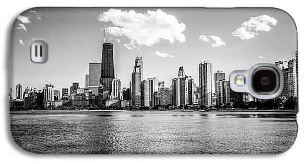 Gold Coast Skyline In Chicago Black And White Picture Galaxy S4 Case by Paul Velgos