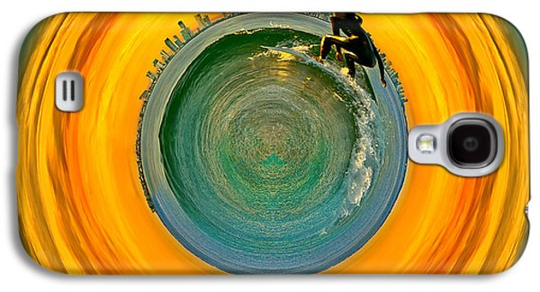 Gold Coast Surfer Circagraph Galaxy S4 Case by Az Jackson