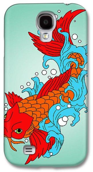Gold Fish 3 Galaxy S4 Case by Mark Ashkenazi