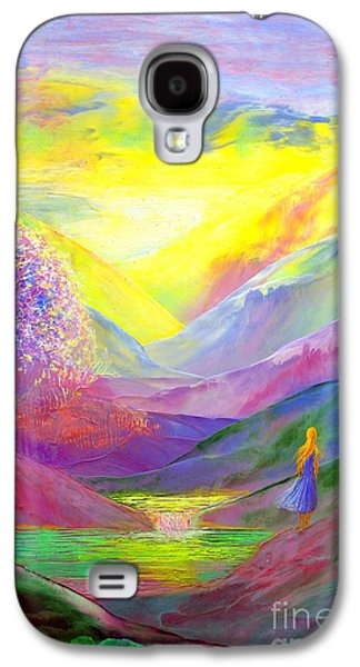 Gold Horizons Galaxy S4 Case by Jane Small