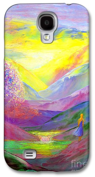 Comfort Paintings Galaxy S4 Cases - Gold Horizons Galaxy S4 Case by Jane Small