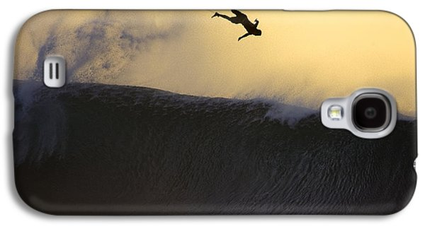 Surf Silhouette Galaxy S4 Cases - Gold Leap Galaxy S4 Case by Sean Davey