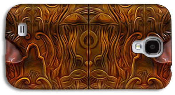 Creepy Digital Art Galaxy S4 Cases - Gold Look Galaxy S4 Case by Jerry Hart