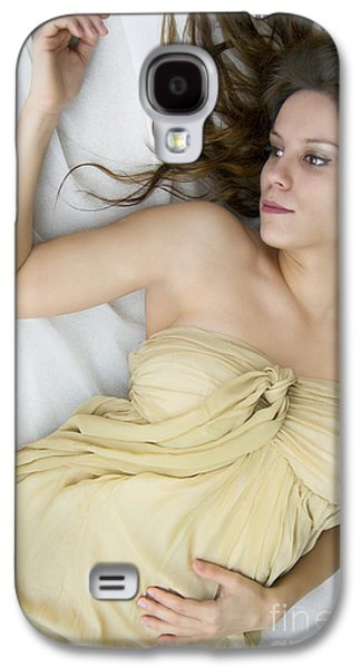 Strapless Dress Galaxy S4 Cases - Gold Galaxy S4 Case by Margie Hurwich