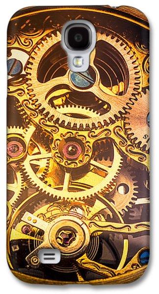 Gold Pocket Watch Gears Galaxy S4 Case by Garry Gay