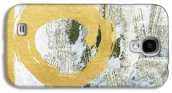Texture Mixed Media Galaxy S4 Cases - Gold Rush - Abstract Art Galaxy S4 Case by Linda Woods