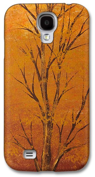 Landscape Acrylic Prints Galaxy S4 Cases - Gold tree Galaxy S4 Case by Roni Ruth Palmer