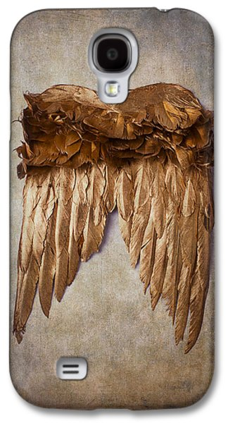 Vertical Flight Galaxy S4 Cases - Gold Wings Galaxy S4 Case by Garry Gay
