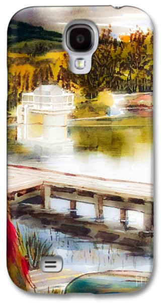 Canoe Mixed Media Galaxy S4 Cases - Golden Afternoon Galaxy S4 Case by Kip DeVore