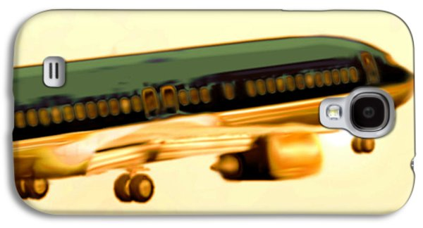 Passenger Plane Mixed Media Galaxy S4 Cases - Golden and bronze rust Galaxy S4 Case by Marcello Cicchini