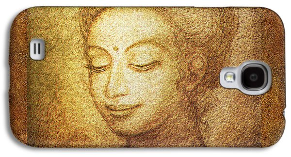 Siddharta Galaxy S4 Cases - Golden Buddha Galaxy S4 Case by Ananda Vdovic