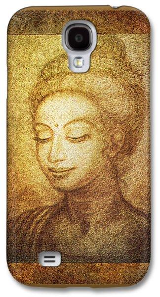 Siddharta Galaxy S4 Cases - Golden Buddha Galaxy S4 Case by Ananda Vdovic