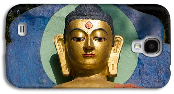 Siddharta Galaxy S4 Cases - Golden Buddha Galaxy S4 Case by Nila Newsom