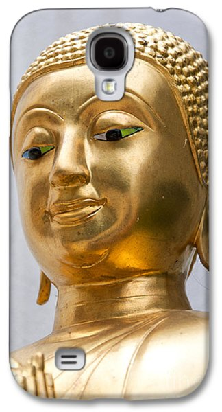 Statue Portrait Galaxy S4 Cases - Golden Buddha Statue Galaxy S4 Case by Antony McAulay