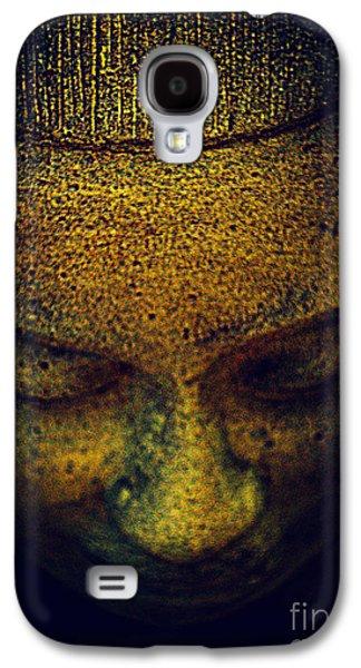Statue Portrait Galaxy S4 Cases - Golden Buddha Galaxy S4 Case by Susanne Van Hulst