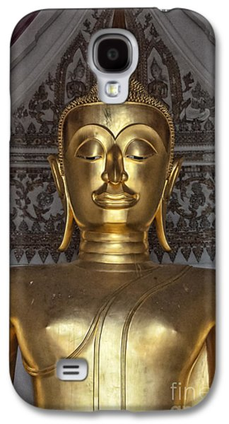 Statue Portrait Galaxy S4 Cases - Golden Buddha Temple Statue Galaxy S4 Case by Antony McAulay