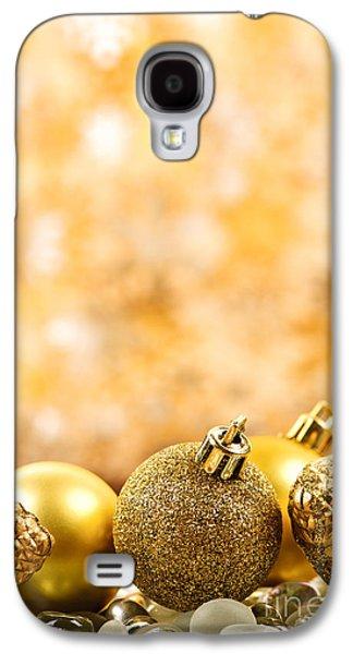 Golden Christmas  Galaxy S4 Case by Elena Elisseeva