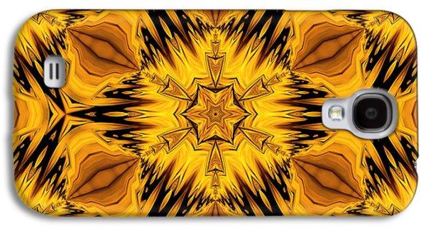 Youthful Galaxy S4 Cases - Golden Circle Galaxy S4 Case by Georgiana Romanovna