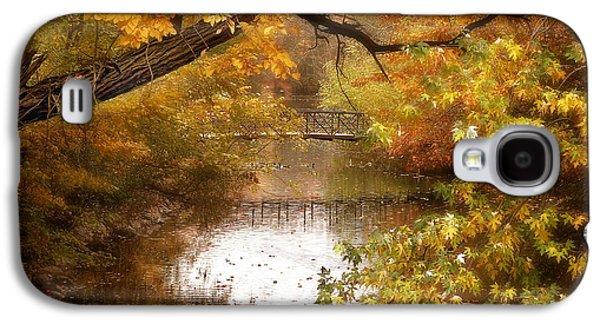 Autumn Landscape Digital Art Galaxy S4 Cases - Golden Days Galaxy S4 Case by Jessica Jenney