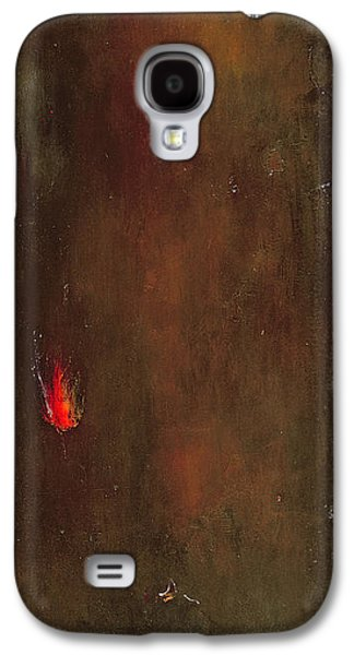 Abstract Landscape Photographs Galaxy S4 Cases - Golden Desert Oil On Canvas Galaxy S4 Case by Jane Deakin