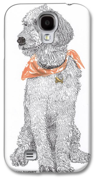 Pen And Ink Framed Prints Galaxy S4 Cases - Trash Talking Golden Doodle Galaxy S4 Case by Jack Pumphrey