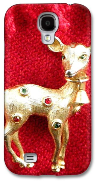 Illustration Jewelry Galaxy S4 Cases - Golden Doe Broach 2 Galaxy S4 Case by Bruce Iorio