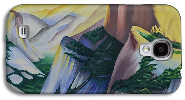 Half Dome Paintings Galaxy S4 Cases - Golden Dome Galaxy S4 Case by Ron Abbott