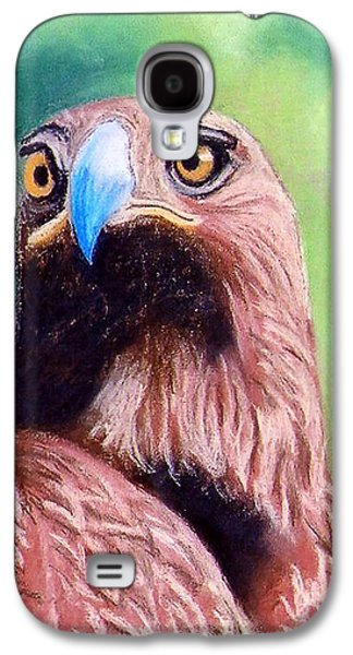 Torn Pastels Galaxy S4 Cases - Golden Eagle Galaxy S4 Case by Stephen Brooks